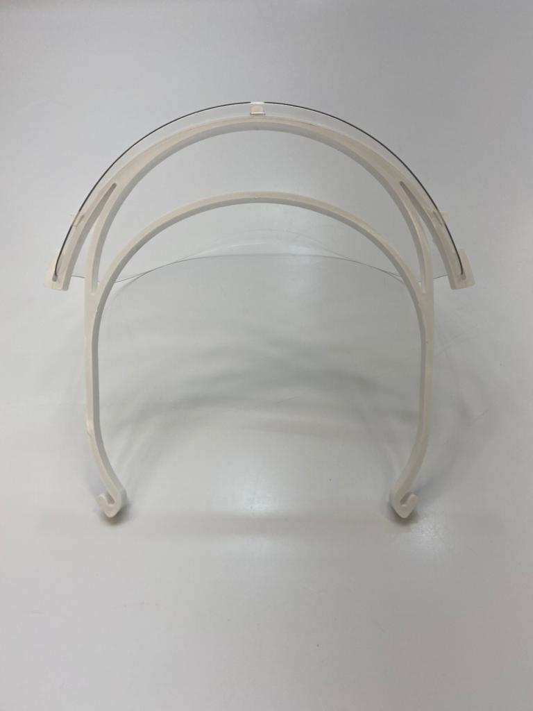 Máscara de Proteção Fácil em Acrílico Articulada Face Shield Covid-19