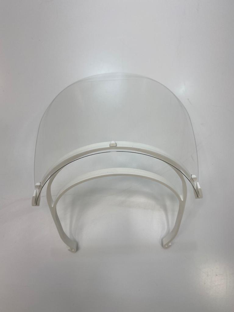 Máscara de Proteção Fácil em Acrílico Fixa Face Shield Covid-19