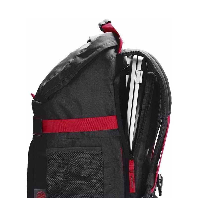 Mochila HP Odyssey Para Notebook 15,6? Preta e Vermelha X0R83AA