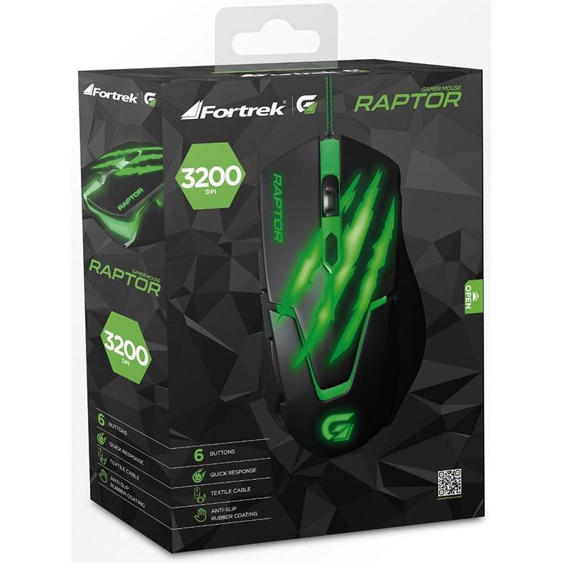 Mouse Gamer Fortrek Raptor OM-801