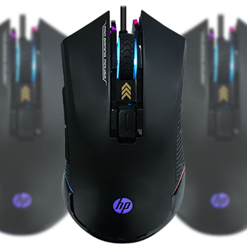 Mouse Gamer HP G360 Com Led RGB 6200Dpi USB Preto