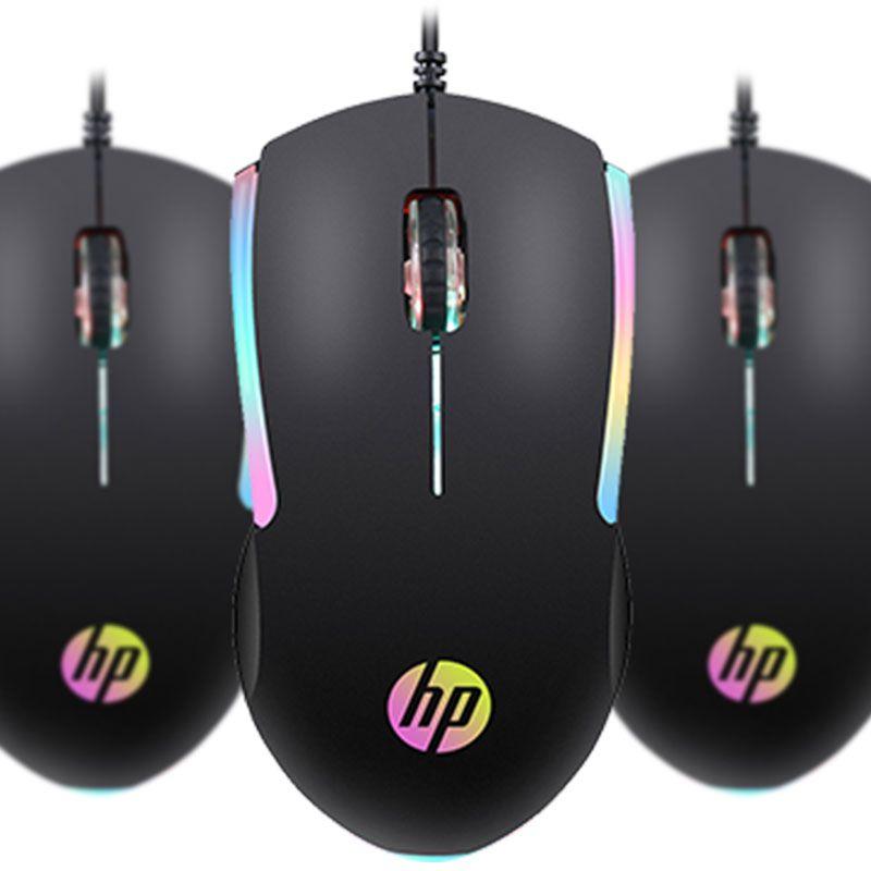 Mouse Gamer HP M160 Com Led RGB 1000Dpi Preto
