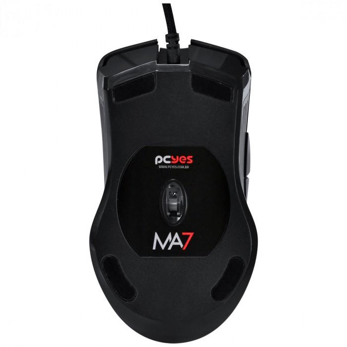 Mouse Gamer PCYES USB MA7 4000 DPI Com Led RGB