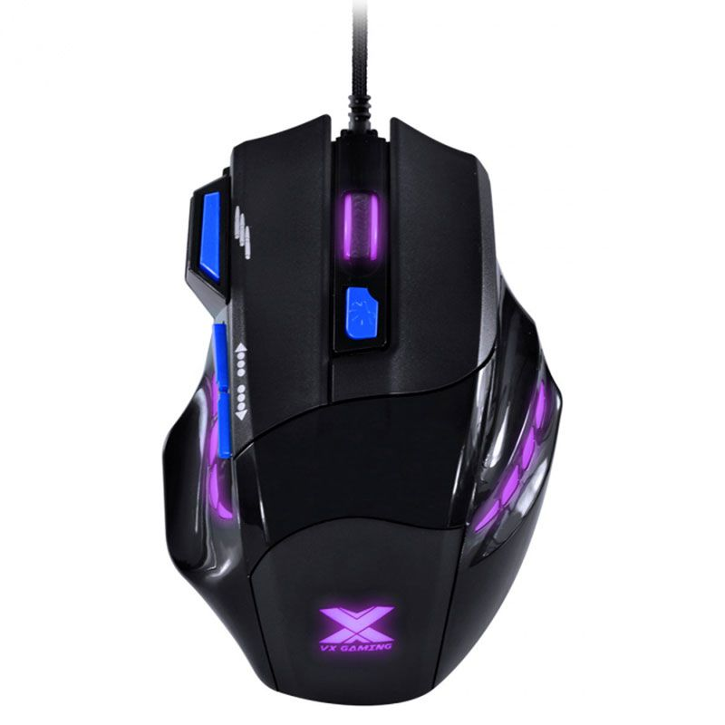 Mouse Gamer Vx Gaming Vinik Black Widow 2400DPI Azul Com Led