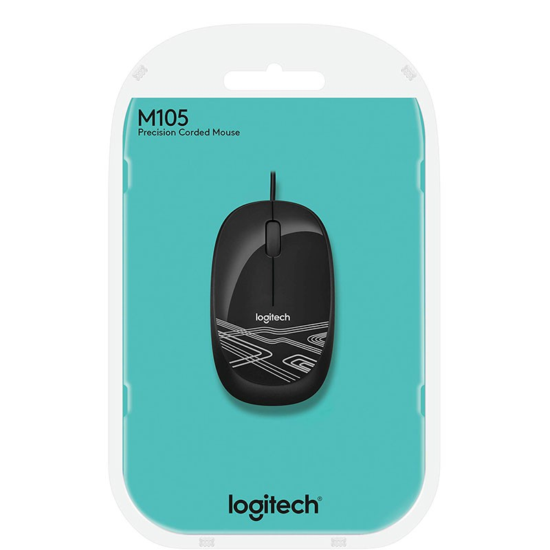 Mouse Logitech M105 1000DPI 910-002958 Preto