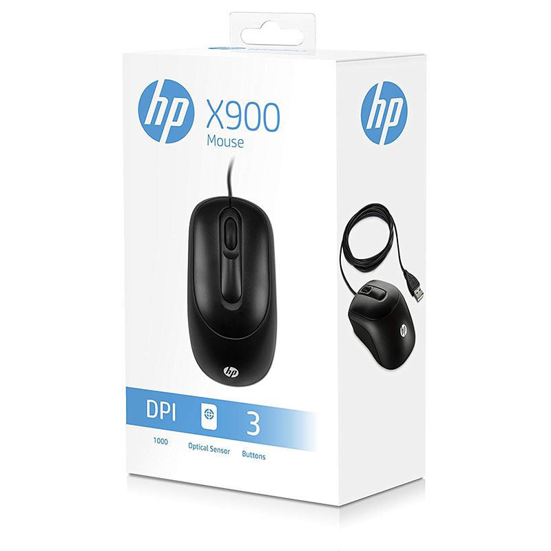 Mouse Optico Usb Hp X900 Preto