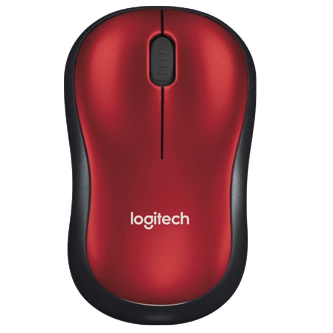 Mouse Sem Fio Logitech M185 Vermelho