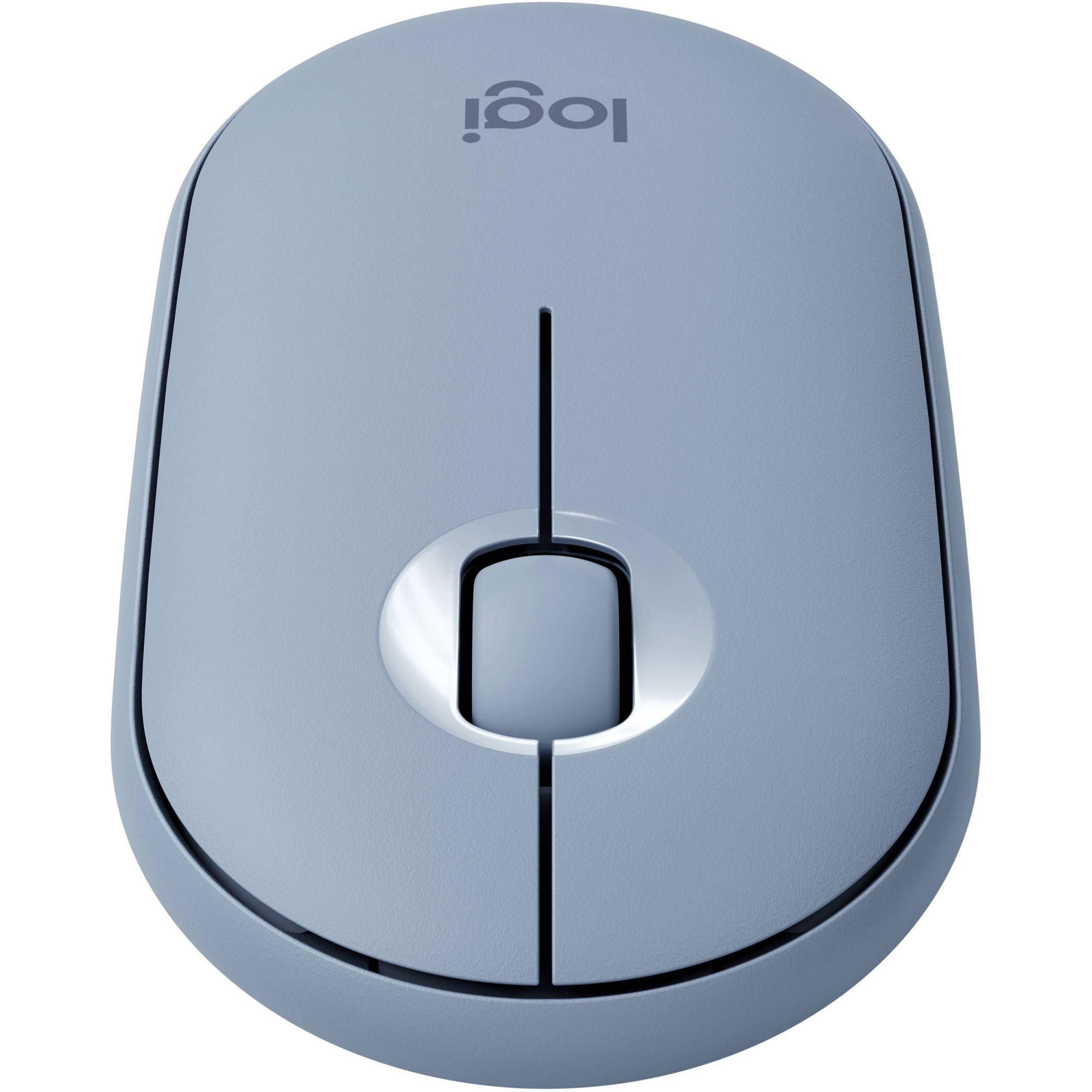 Mouse Sem Fio Logitech Pebble M350 Azul 910-005773