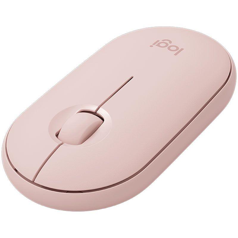 Mouse Sem Fio Logitech Pebble M350 Rosa 910-005769