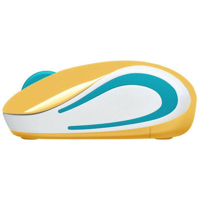 Mouse Sem Fio Mini Logitech M187 1000Dpi Amarelo