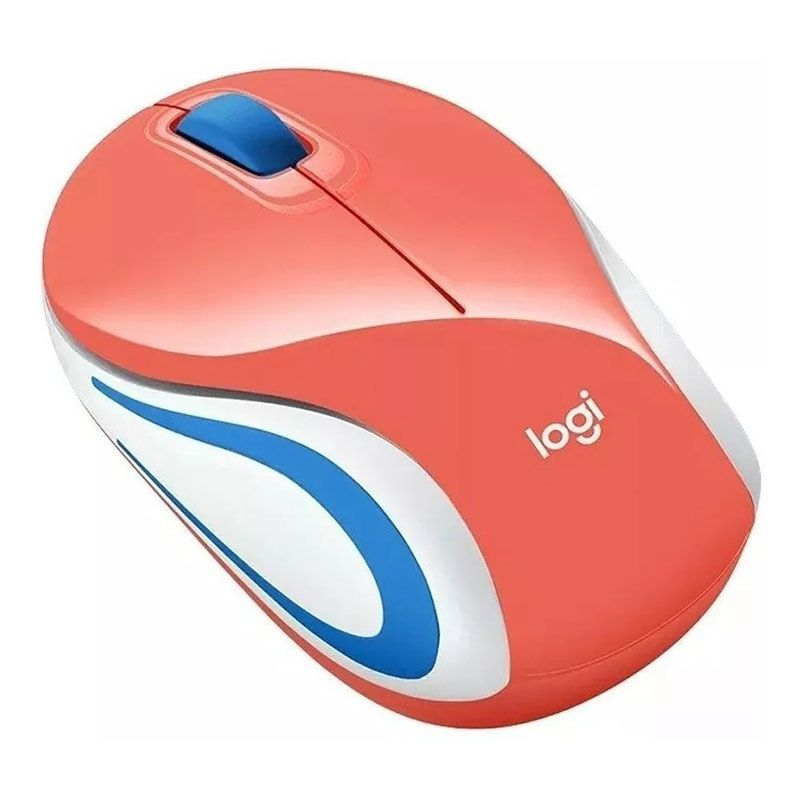 Mouse Sem Fio Mini Logitech M187 1000Dpi Coral