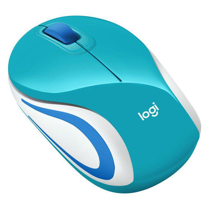 Mouse Sem Fio Mini Logitech M187 1000Dpi Verde