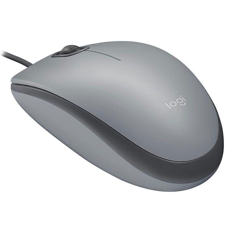 Mouse USB Logitech M110 Silent 1000Dpi Cinza
