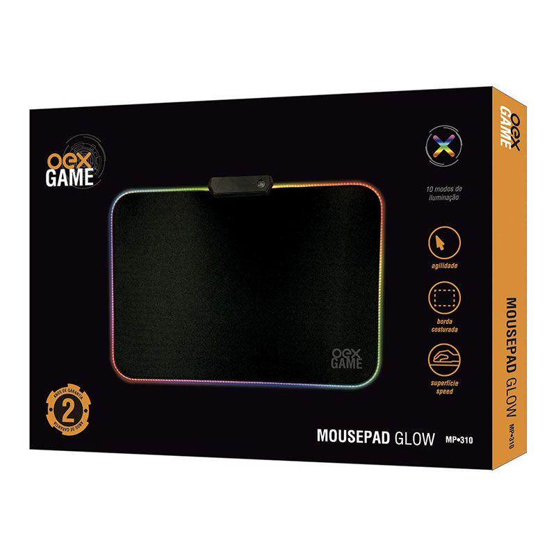 MousePad Gamer OEX Com Led Glow MP-310