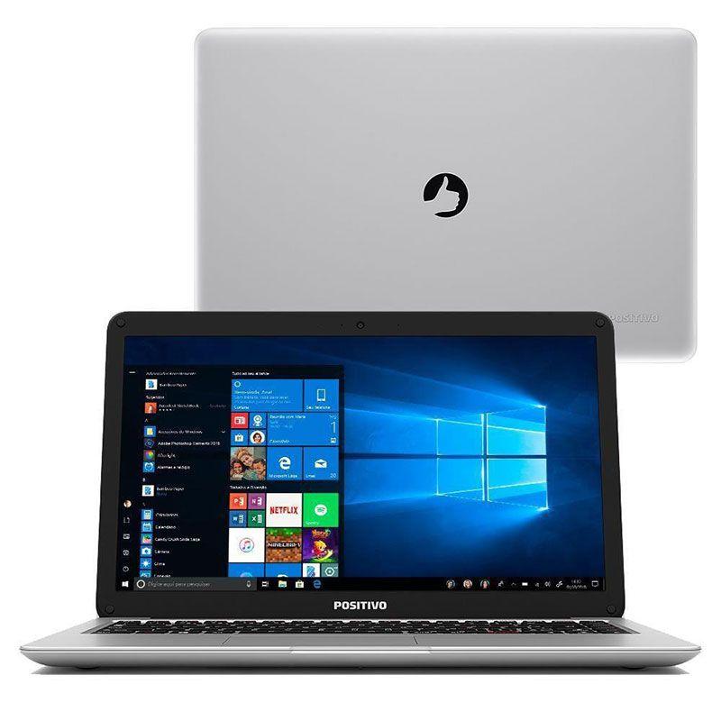 Notebook Positivo Motion C4500A Intel Celeron, 4GB, 500GB Com Windows 10 Home