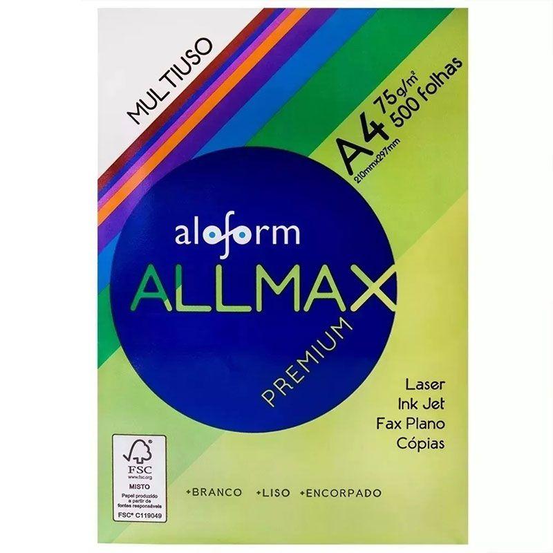 Papel Sulfite A4 Allmax Premium Branco 500 Folhas 75g