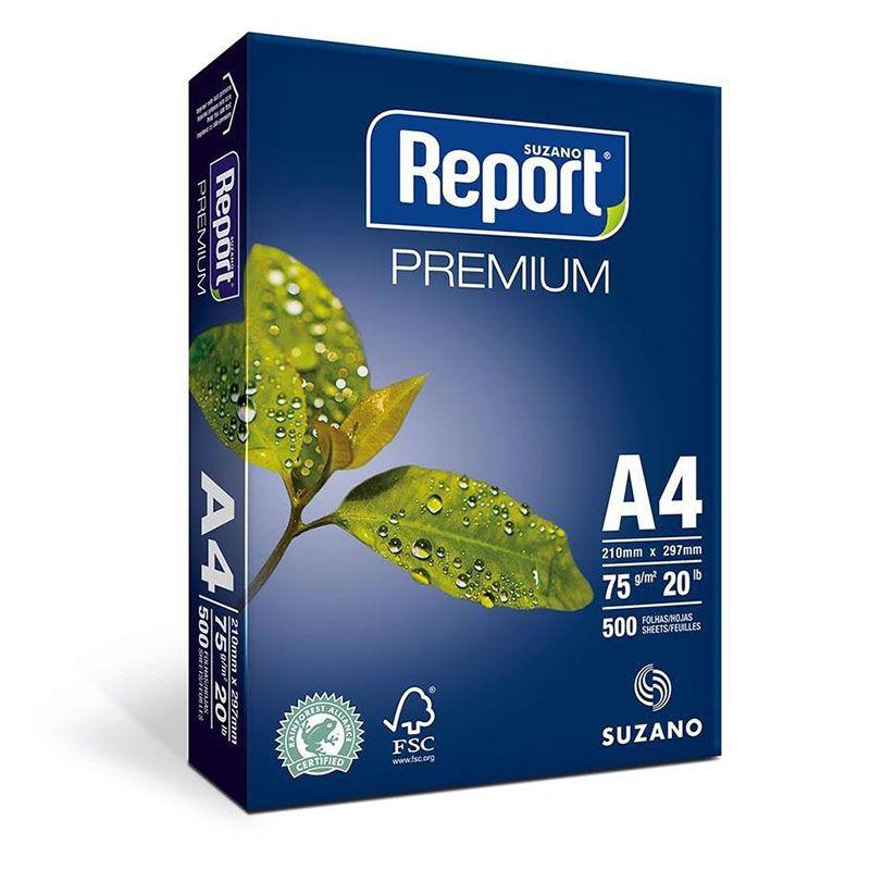 Papel Sulfite Report A4 75gr Premium Com 500 Folhas