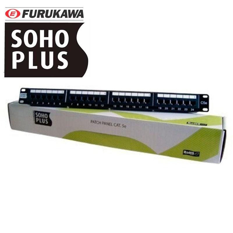 Patch Panel Furukawa Sohoplus Cat 5E 24 Portas T568A/B