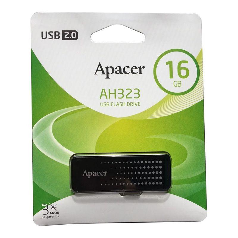 Pen Drive Apacer 16GB AH323 Preto USB 2.0