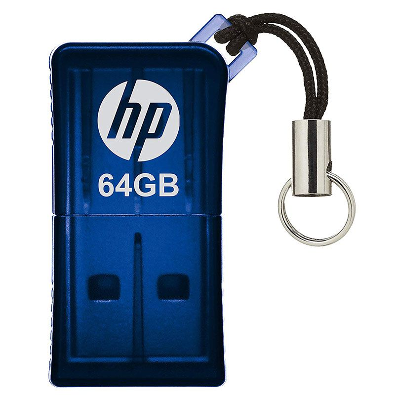 Pen Drive HP Mini 64GB USB 2.0 V165W Azul