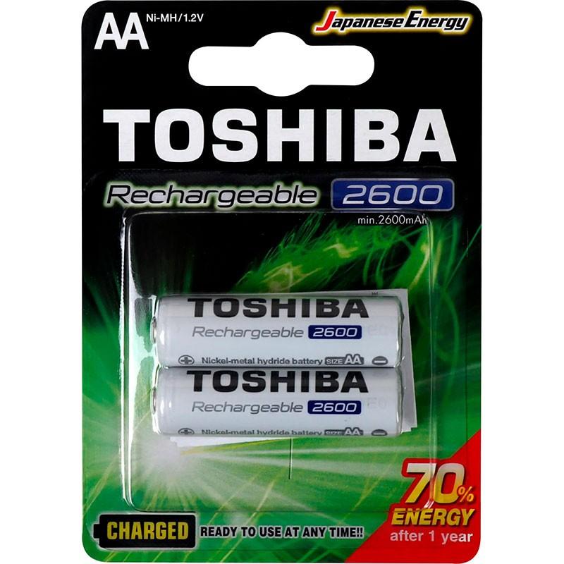 Pilha Recarregável Toshiba AA 2600MAH Tnh Com 2 Unidades
