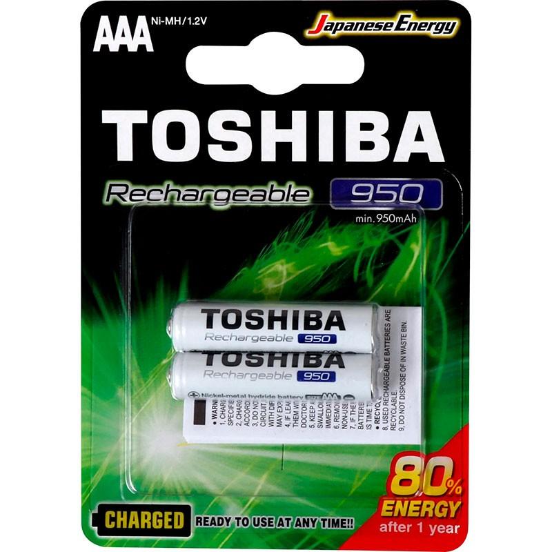 Pilha Recarregável Toshiba AAA 950MAH Tnh Com 2 Unidades
