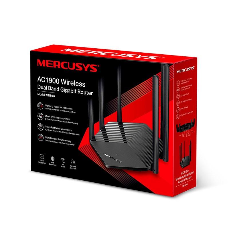 Roteador Mercusys Mr50G (EU) 1.0 Wireless Dual Band Gigabit AC1900
