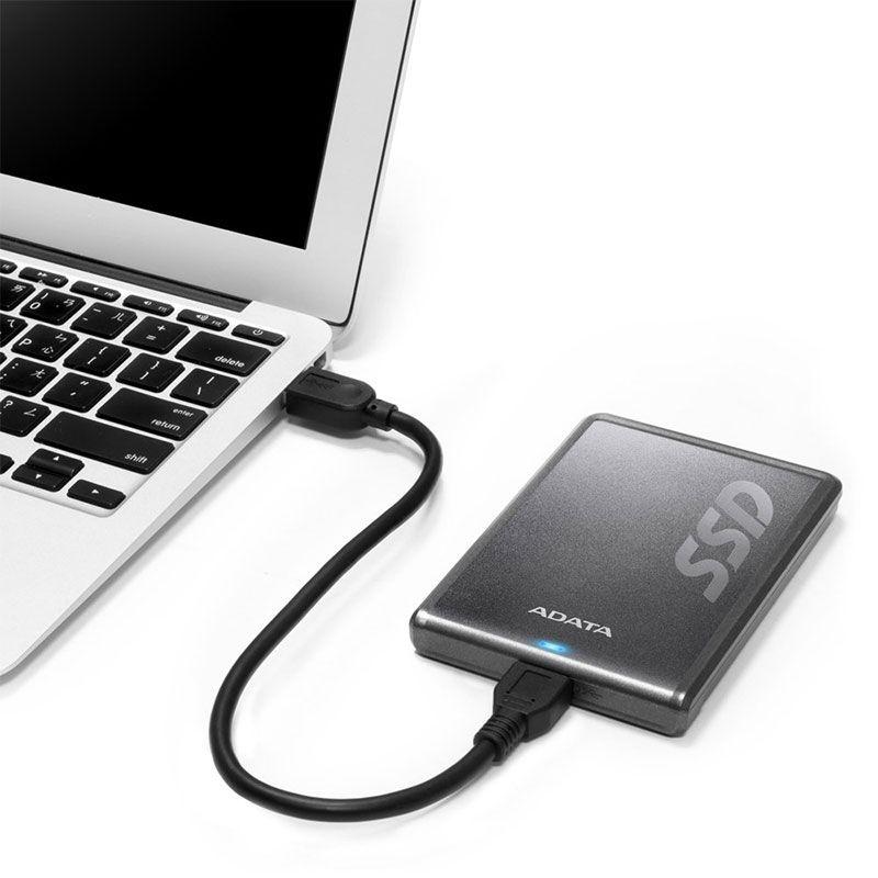 SSD Externo Adata 256GB Sata III ASV620H-256GU3-CTI
