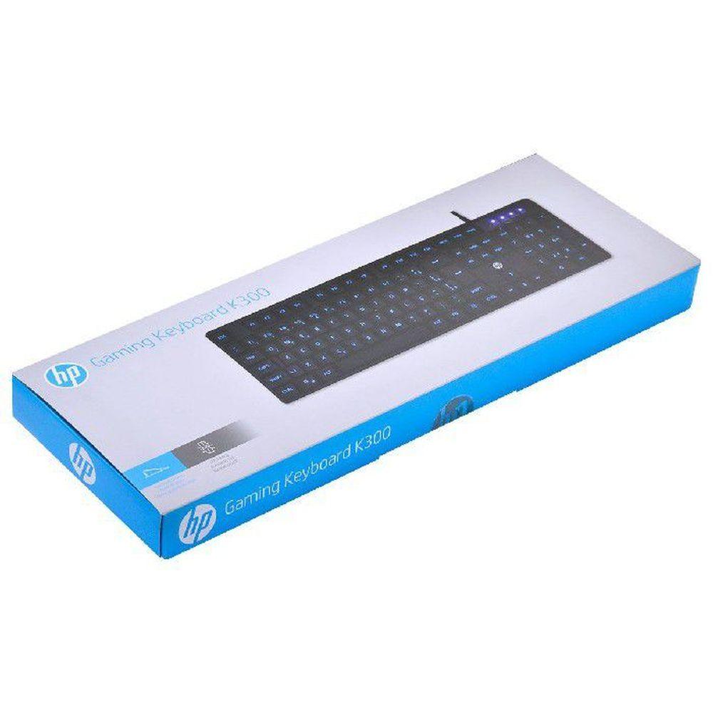Teclado Gamer HP K300 Com Led Azul ABNT 2