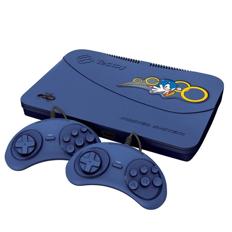 Vídeo Game Tectoy Master System 132 Jogos 2 Controles Azul
