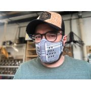 Máscaras de Tecido Xadrez Reutilizável