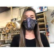 Máscaras de Tecido Estampa Impress Azul Reutilizável