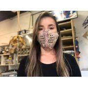 Máscaras de Tecido Estampada Cru Reutilizavel