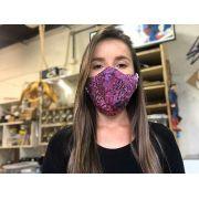 Máscaras de Tecido Estampada Lilás  Reutilizável