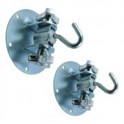 Gancho de rede regulável portátil redondo c/ manípulos - para instalação em diagonal - 150 kg