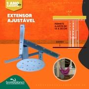 Kit 1 extensor ajustável para teto com forro de gesso - 15 a 20 cm + 1 gancho de rede teto + 01 gancho parede Regl