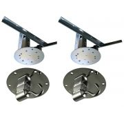 Kit 2 extensores ajustáveis para teto com forro de gesso - 11 a 15 cm + 2 ganchos de rede