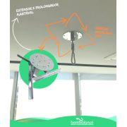 kit extensor ajustável para teto com forro de gesso - 10 a 14 cm + mosquetão giratório + itens