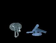 Kit extensor ajustável para teto com forro de gesso - 11 a 15 cm + balanço Stronger - capacidade 300 kg