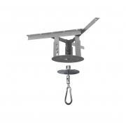 Kit extensor ajustável para teto com forro de gesso - 15 a 20 cm + mosquetão giratório semi-embutido