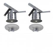 Kit extensor ajustável para teto com forro de gesso - 20 a 26 cm + Gancho de Rede de Teto com Colarinho 150Kg