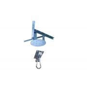 Kit extensor ajustável para teto com forro de gesso - 20 a 26cm + suporte balanço mosquetão chapa retangular 4 furos