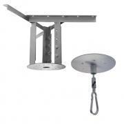 Kit extensor ajustável para teto com forro de gesso - 26 a 37 cm + Mosquetão Giratório com Colarinho 150Kg