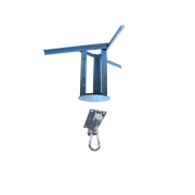 Kit extensor ajustável para teto com forro de gesso - 26 a 37cm + suporte balanço mosquetão chapa retangular 4 furos