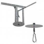 Kit extensor ajustável para teto com forro de gesso - 37 a 60 cm + Mosquetão Giratório Semi-Embutido com Colarinho