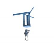 Kit extensor ajustável para teto com forro de gesso - 37 a 60cm + suporte balanço mosquetão chapa retangular 4 furos