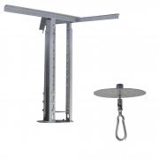 Kit extensor ajustável para teto com forro de gesso - 60 a 96 cm + Mosquetão Giratório com Colarinho 150Kg