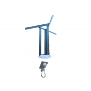 Kit extensor ajustável para teto com forro de gesso - 60 a 96cm + suporte balanço mosquetão chapa retangular 4 furos