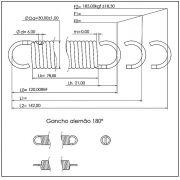 Mola conforto 6x30x120 mm (zincada)