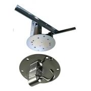 Pedido Fulano de tal -  Kit 1 extensor ajustável para teto com forro de gesso - 15 a 20 cm +  gancho de rede de teto + 01 gancho parede